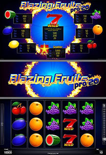 Blazing Fruits pro20 - game screens