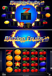 Blazing Fruits pro40 - game screens