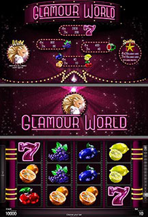Glamour World - game screens