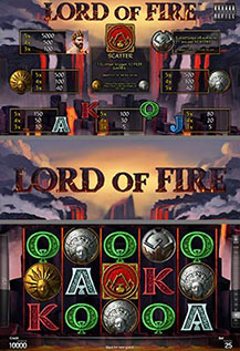 Lord of Fire - game screens