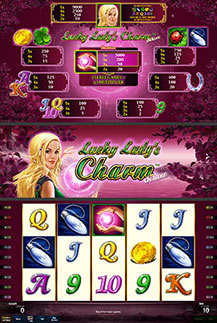 Lucky Lady's Charm - game screens