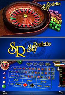 Sky Roulette - game screens
