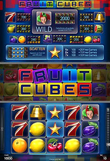 Fruit Cubes - game screens